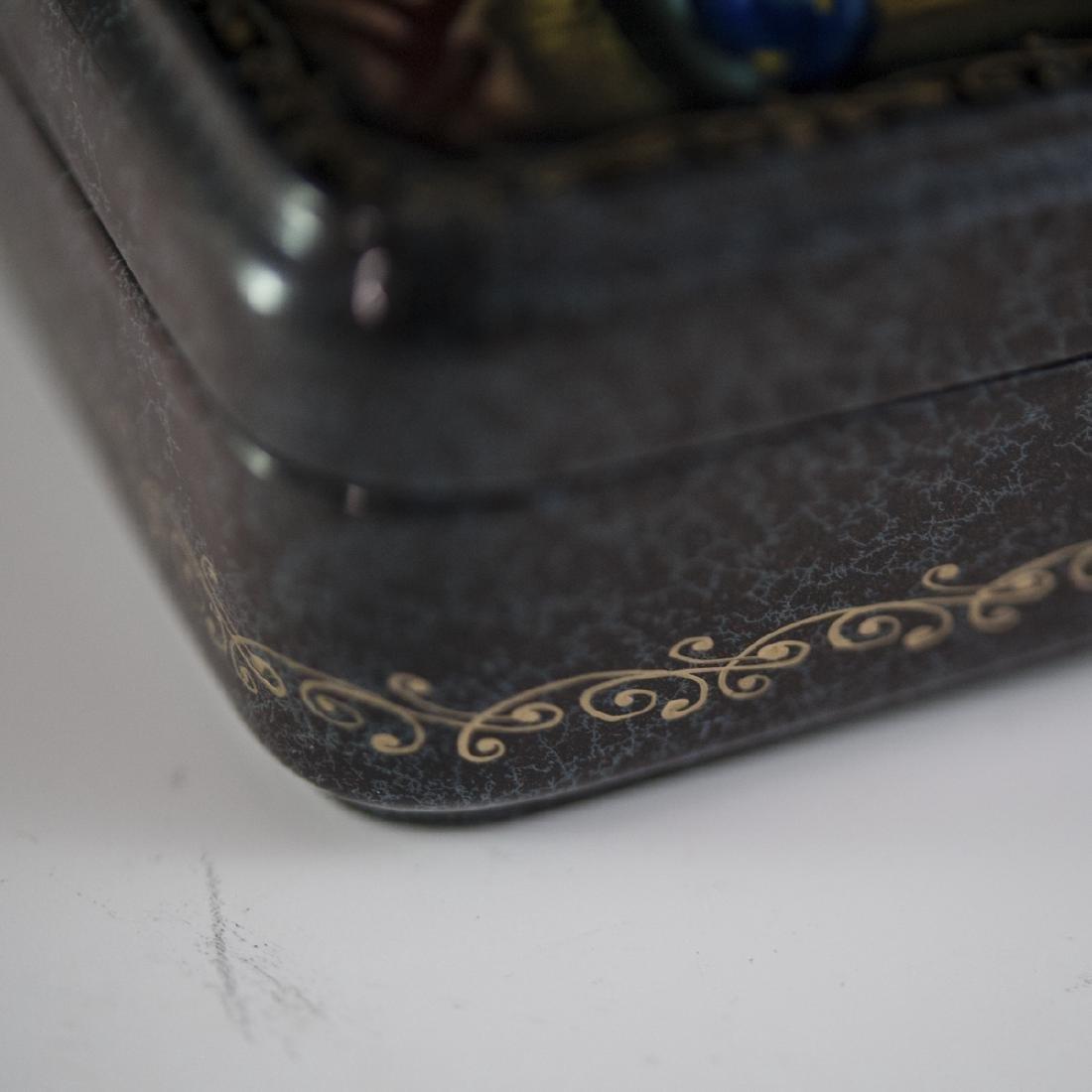 Russian Lacquered Papier Mache Erotic Box - 5