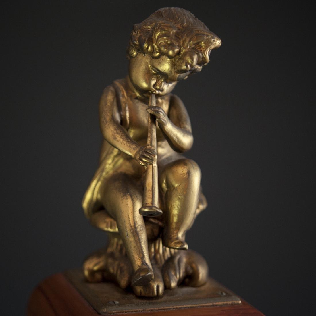 Franz Hermle and Sohn Marquetry & Bronze Mantel Clock - 6