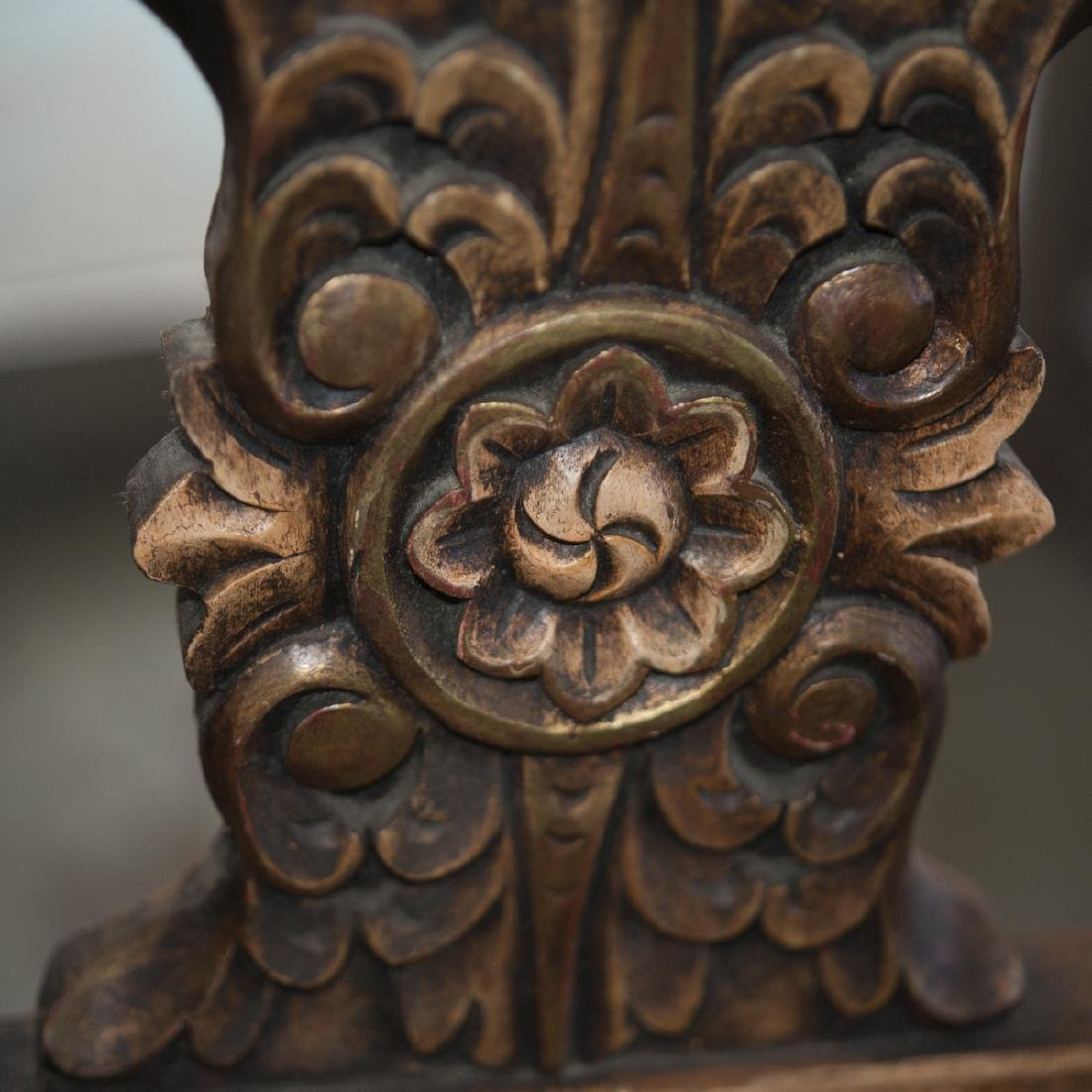 Vintage Wooden Bench - 4