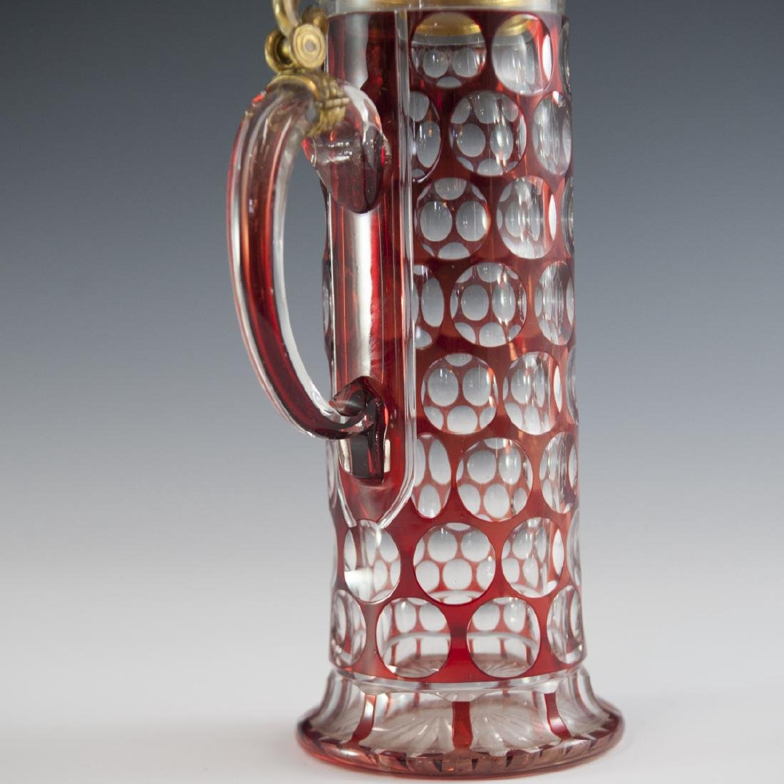 Bohemian Cut To Clear Crystal Decanter - 3