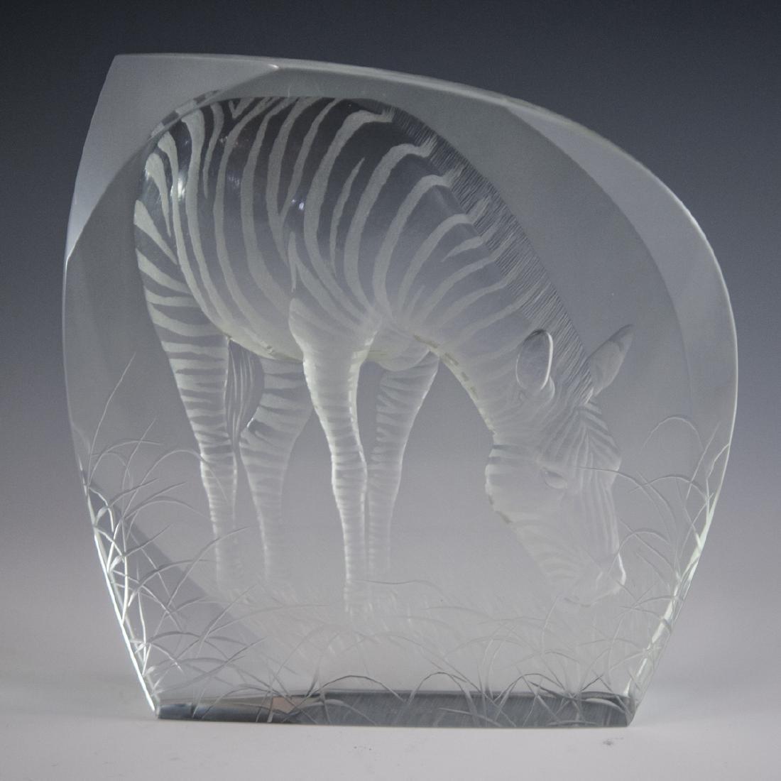 Moser Crystal Zebra Relief