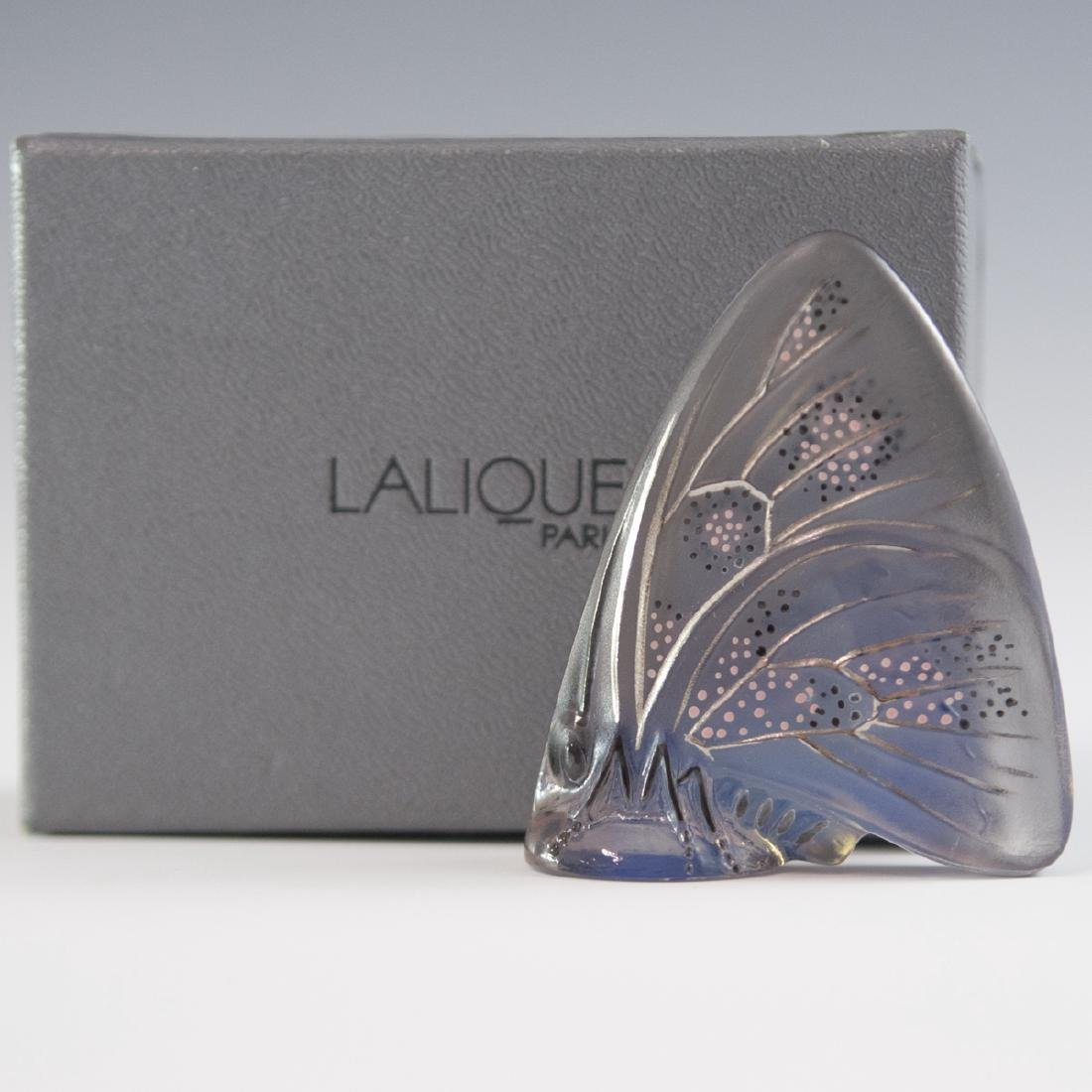 Lalique Frosted Crystal Enameled Butterfly