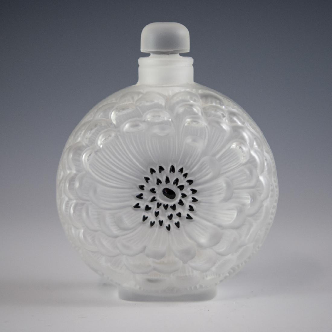 "Lalique Crystal ""Dahlia"" Perfume Bottle"