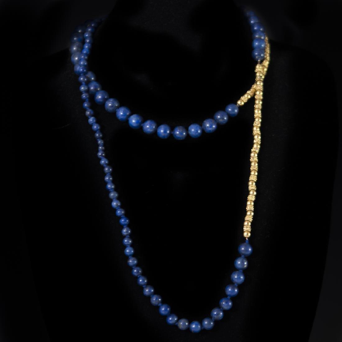 18kt Gold & Lapis Lazuli Necklace