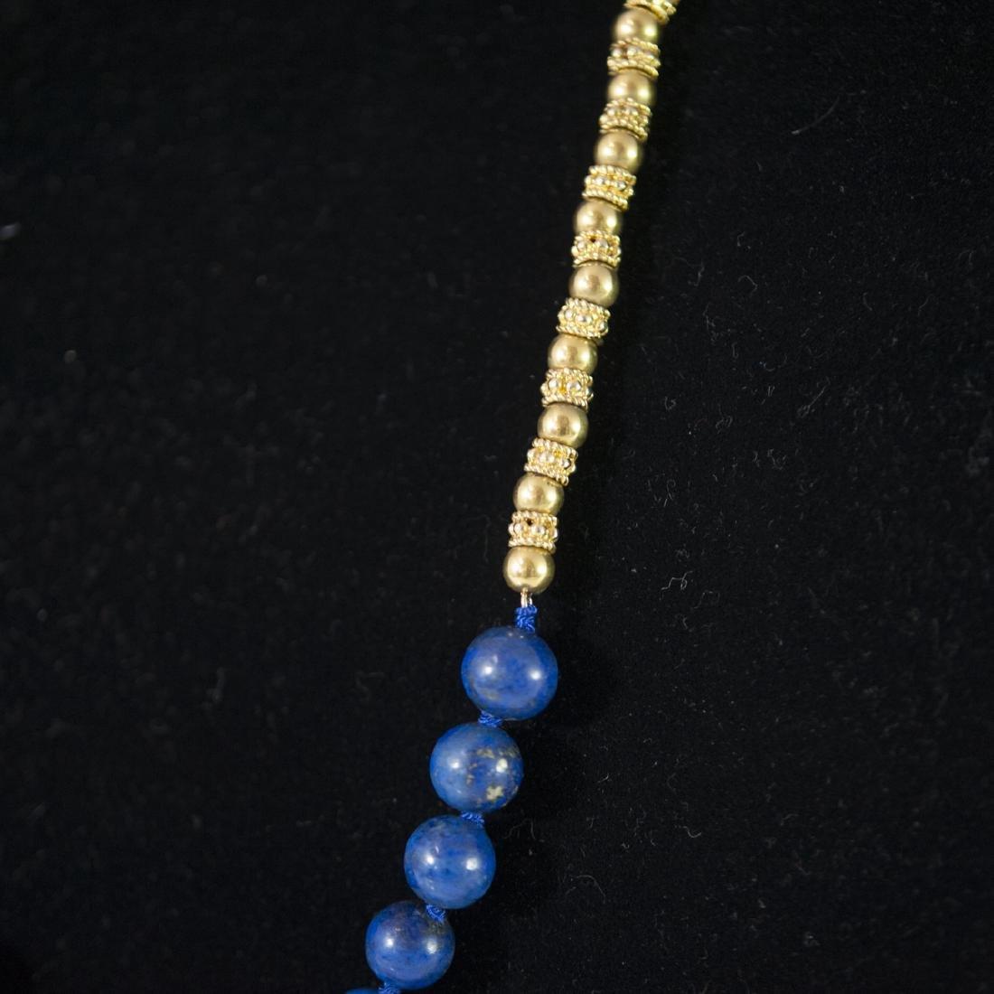 18kt Gold & Lapis Lazuli Necklace - 2