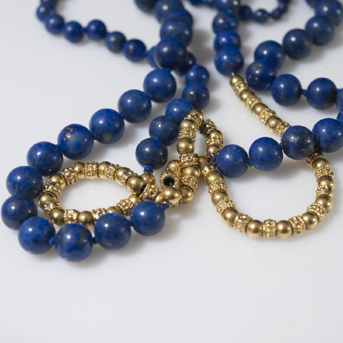 18kt Gold & Lapis Lazuli Necklace - 3