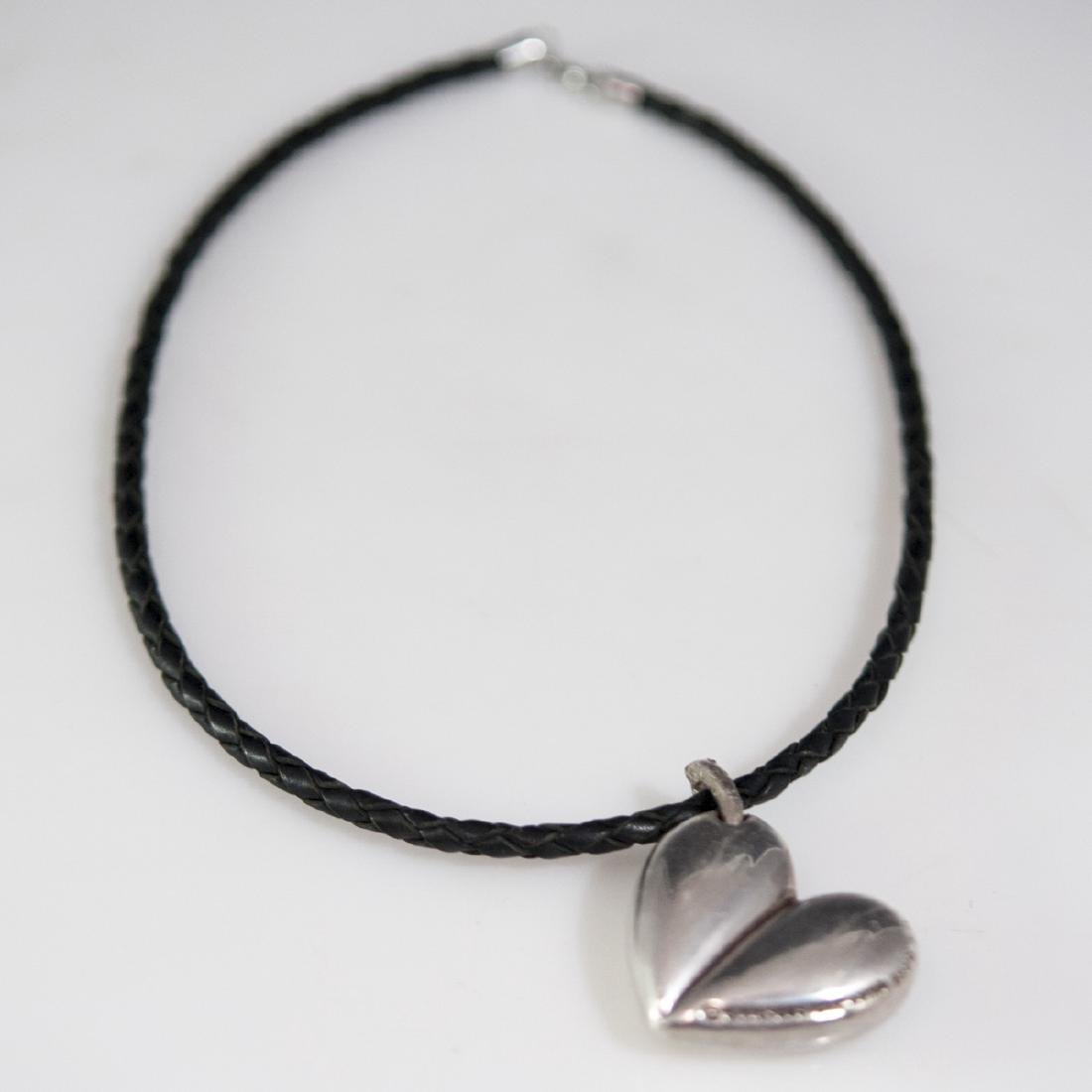 Barry Kieselstein Cord Sterling & Leather Necklace
