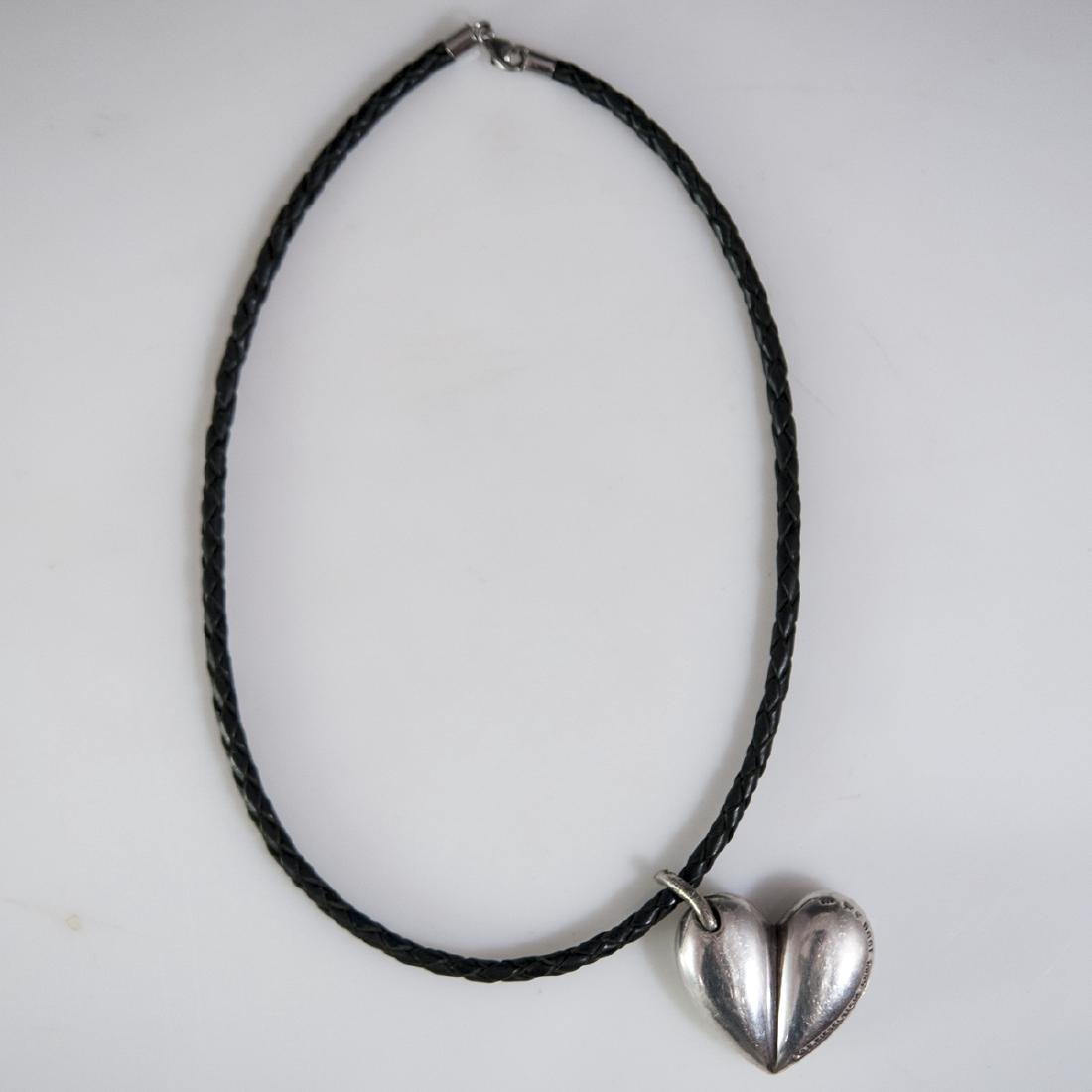 Barry Kieselstein Cord Sterling & Leather Necklace - 4