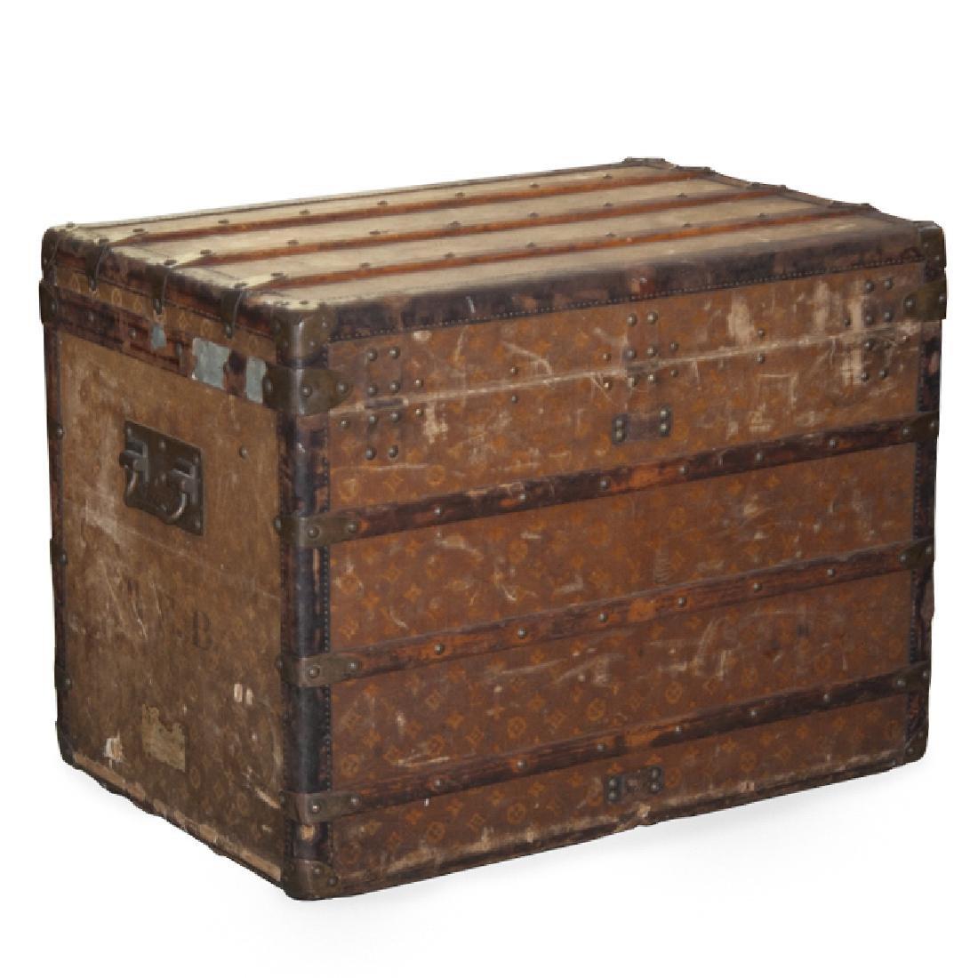 Antique Louis Vuitton Cloth Cabin Trunk