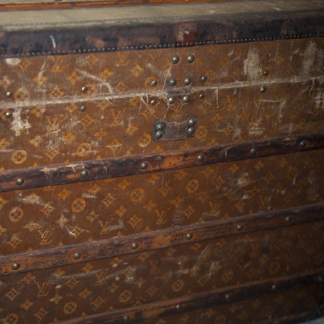 Antique Louis Vuitton Cloth Cabin Trunk - 2