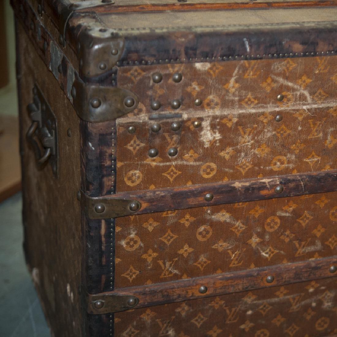 Antique Louis Vuitton Cloth Cabin Trunk - 3