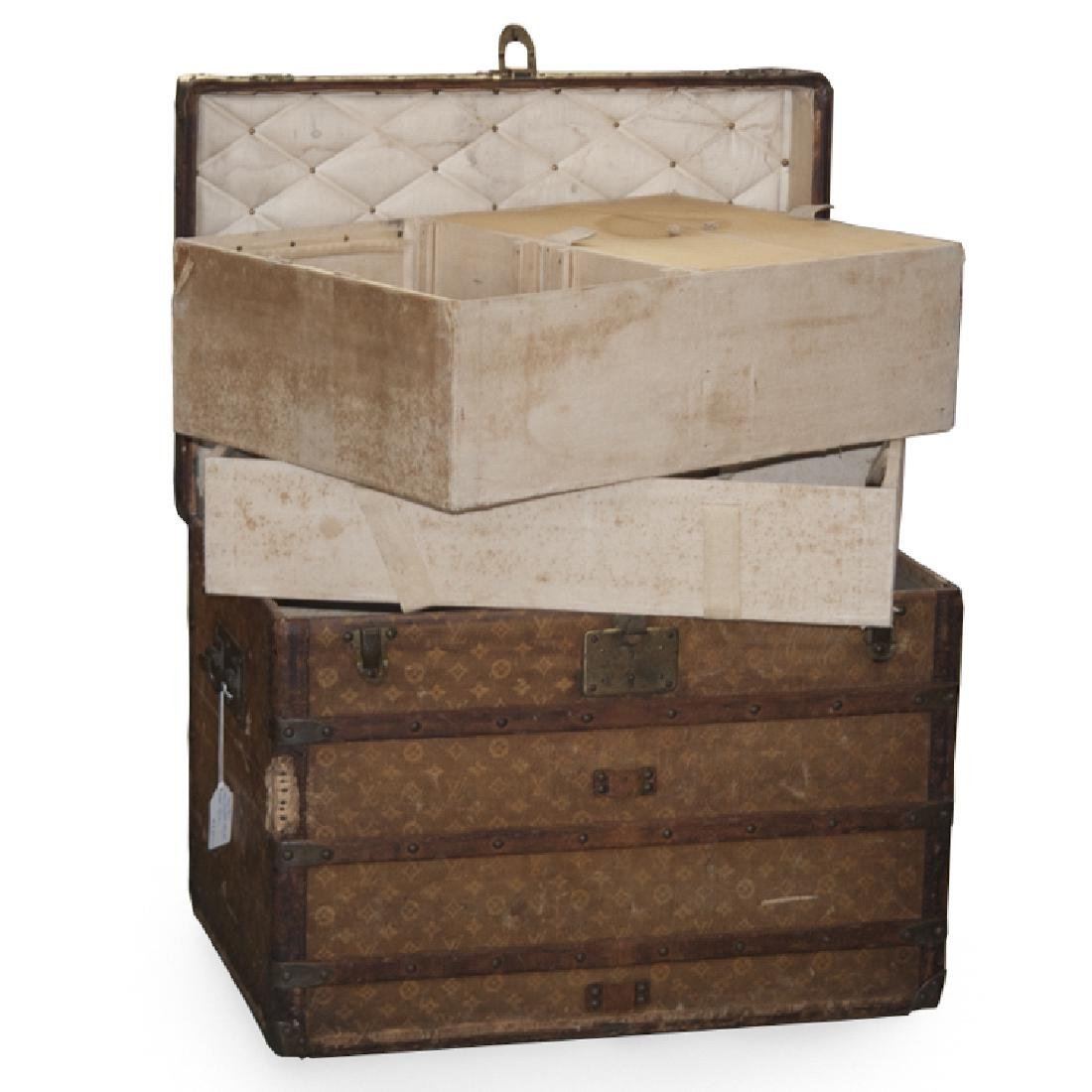 Antique Louis Vuitton Cloth Cabin Trunk - 5