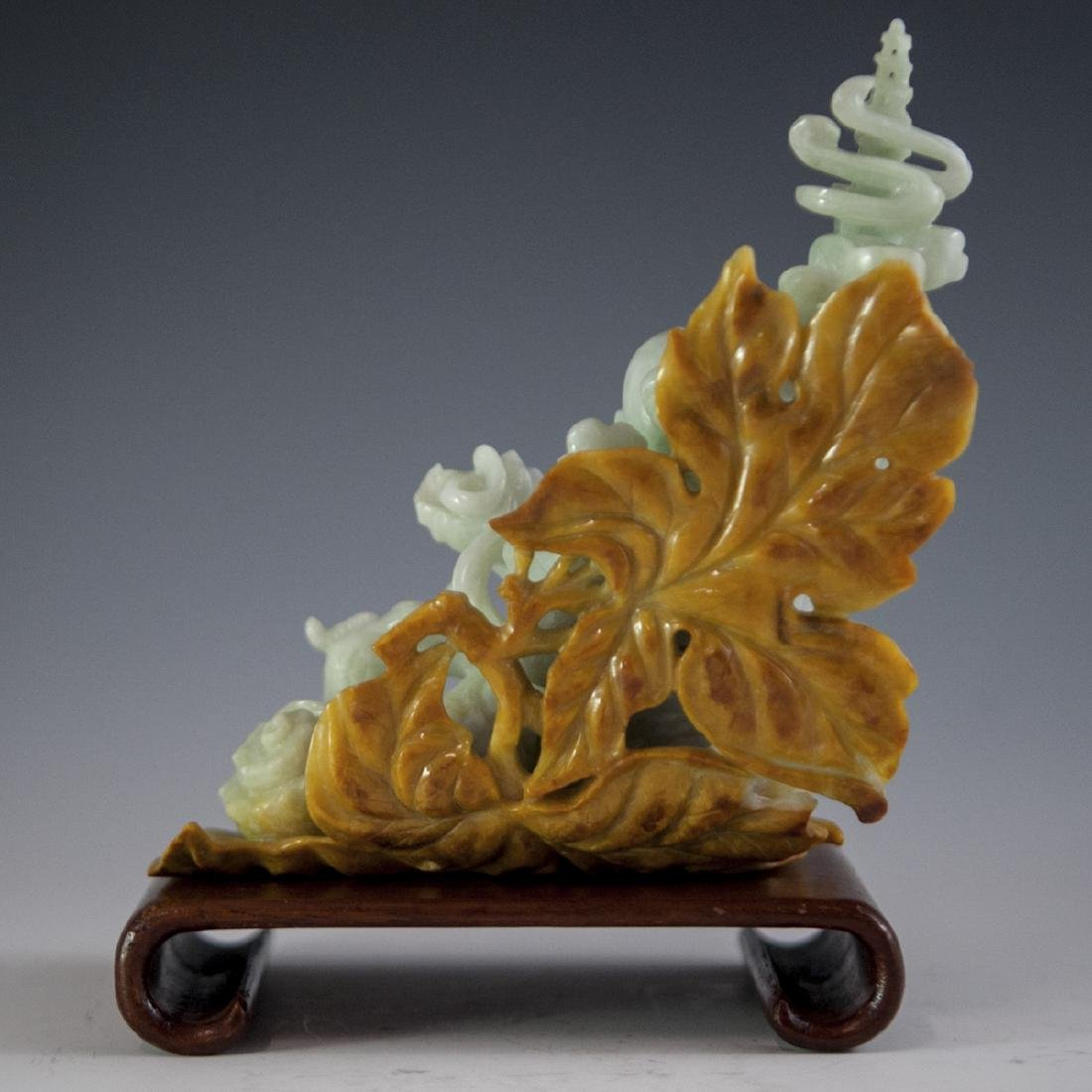 Chinese Carved Figural Jade Wiseman - 3
