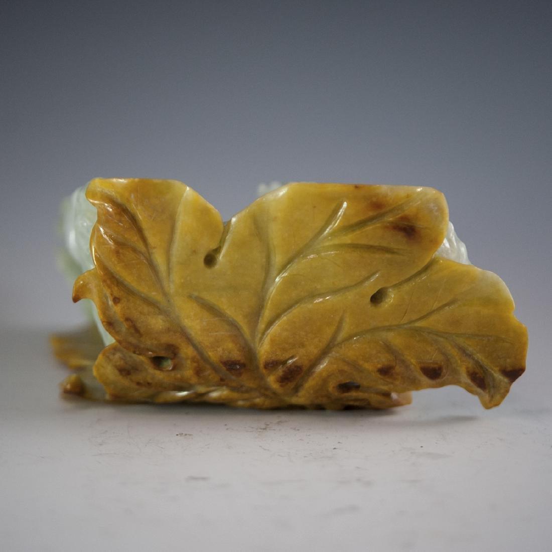 Chinese Carved Figural Jade Wiseman - 5