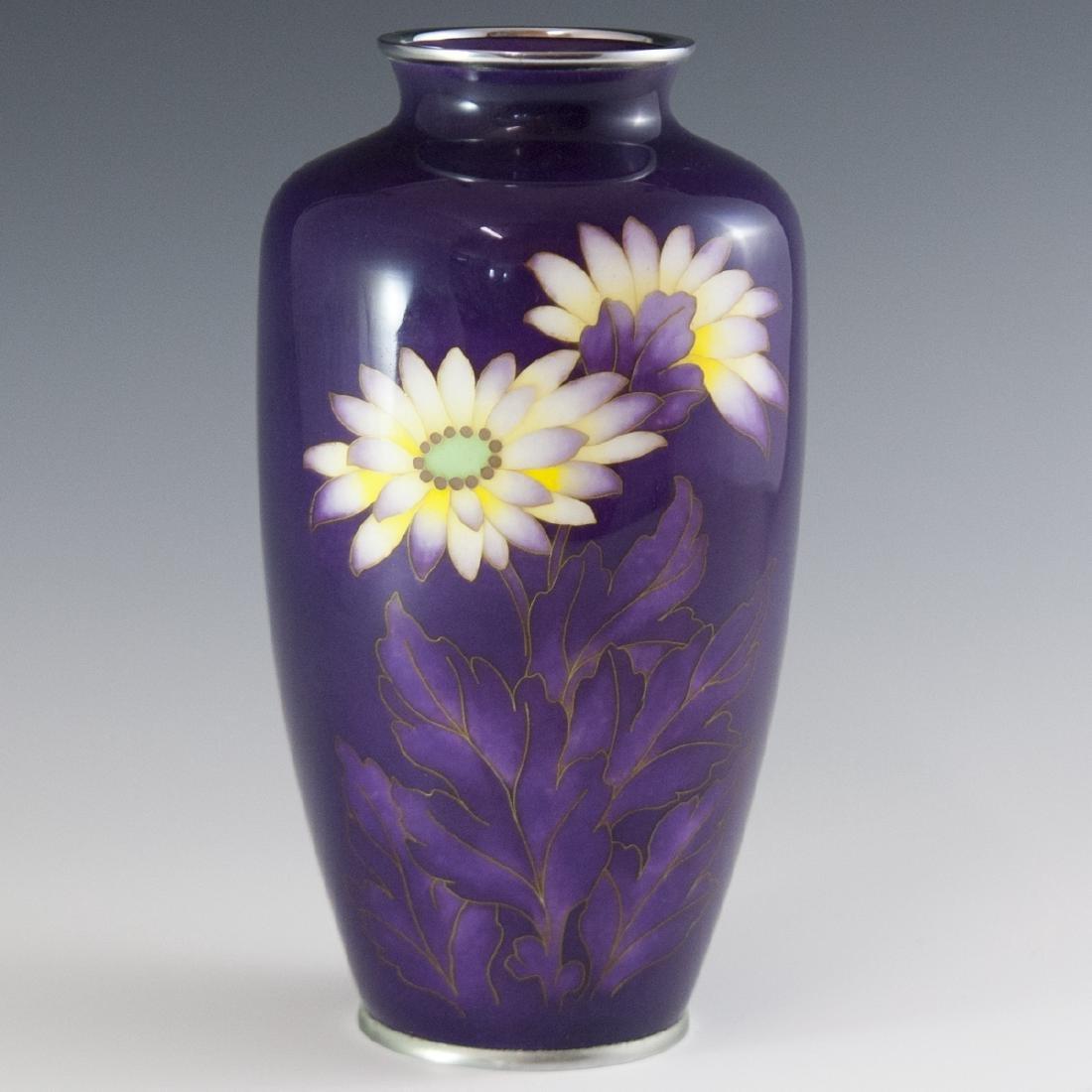 Japanese Enameled Cloisonne Vase