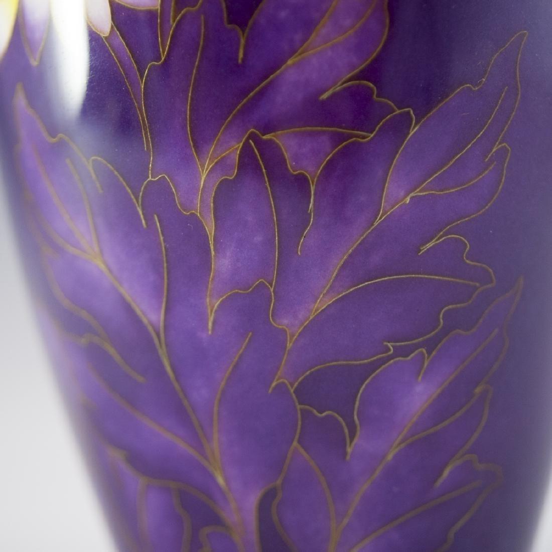 Japanese Enameled Cloisonne Vase - 3