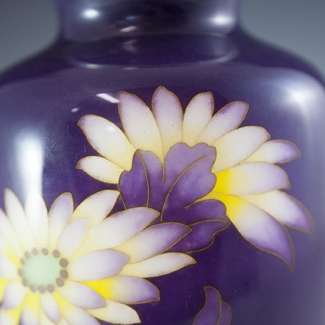 Japanese Enameled Cloisonne Vase - 4