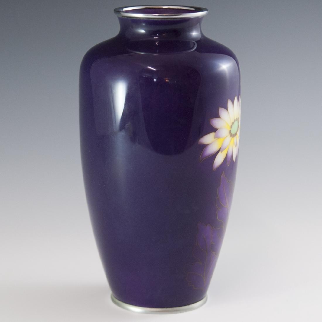 Japanese Enameled Cloisonne Vase - 5