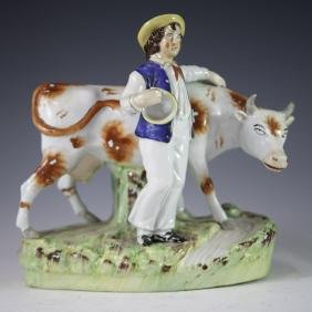 Antique Staffordshire Porcelain Figurine