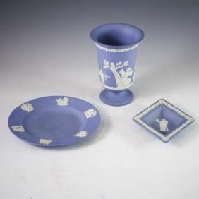 Wedgwood Blue Jasperware Set