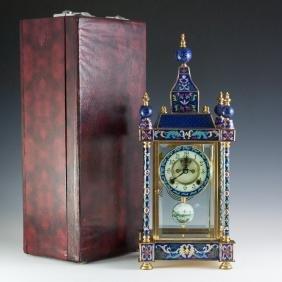 Chinese Cloisonne Enameled Clock