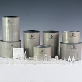 "Swarovski Crystal Silver ""city Planning"" Set"