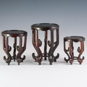Chinese Wooden Vase Stands