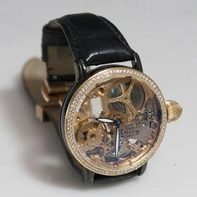 Krieger 18kt Gold Diamond Tidal Wave & Lunar