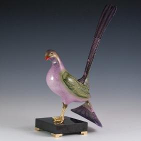 Mangani For Oggetti Enameled Porcelain Bird