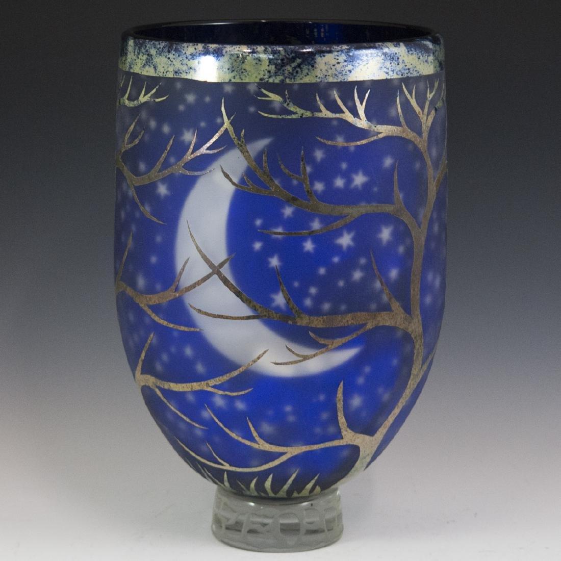 Large Duncan McClellan Art Glass Vase