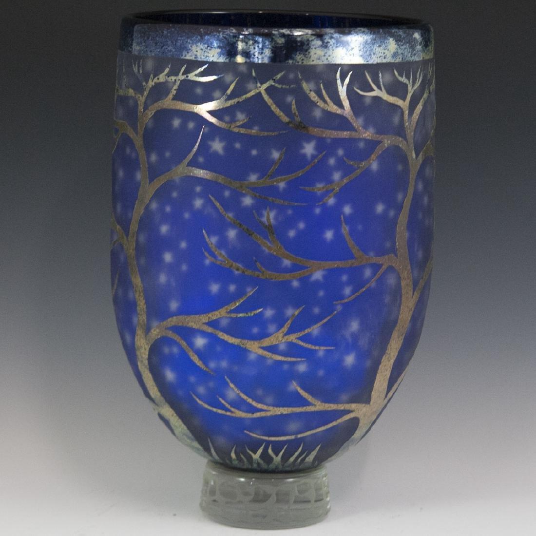 Large Duncan McClellan Art Glass Vase - 5