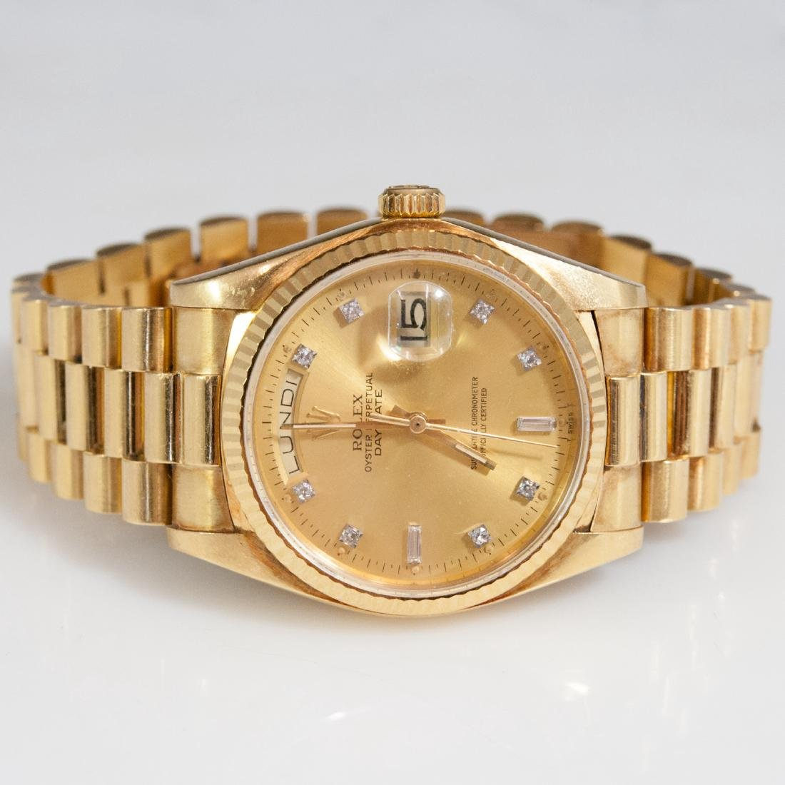 Rolex 18kt Gold Oyster Perpetual Day Date - 4