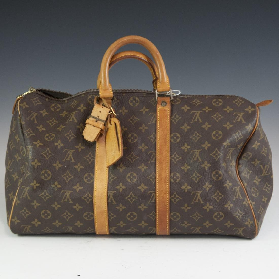 Louis Vuitton Canvas & Leather Keepall Bag