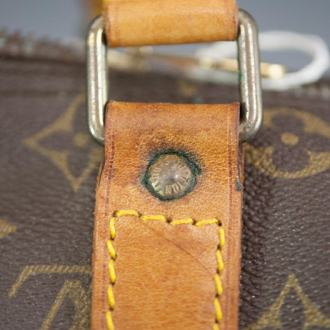 Louis Vuitton Canvas & Leather Keepall Bag - 4