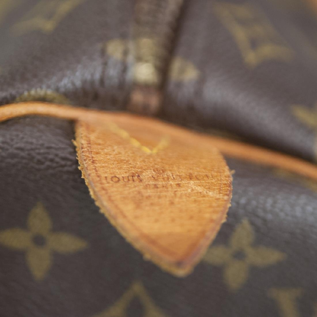 Louis Vuitton Canvas & Leather Keepall Bag - 5