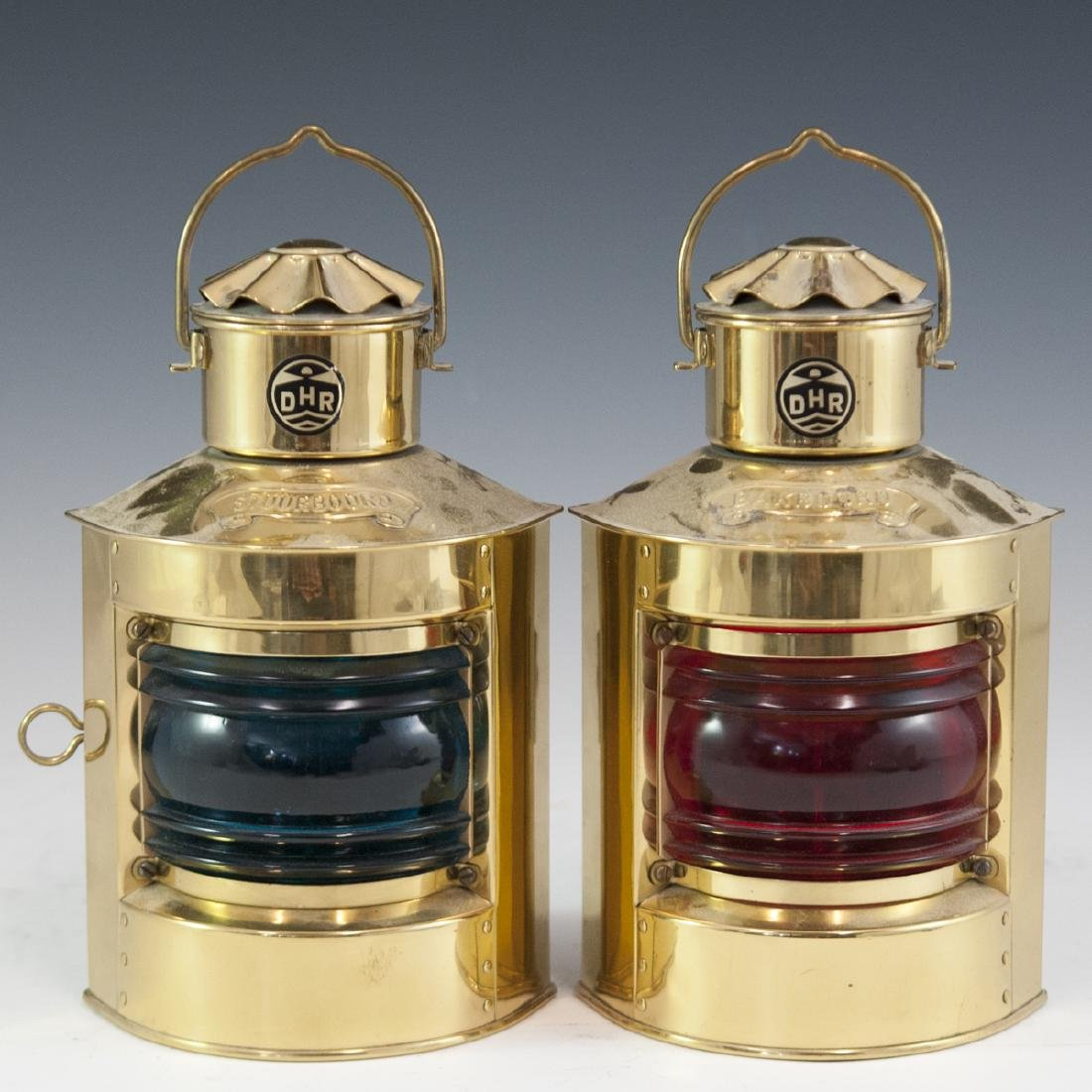 Den Haan Rotterdam Brass Marine Oil Lamps