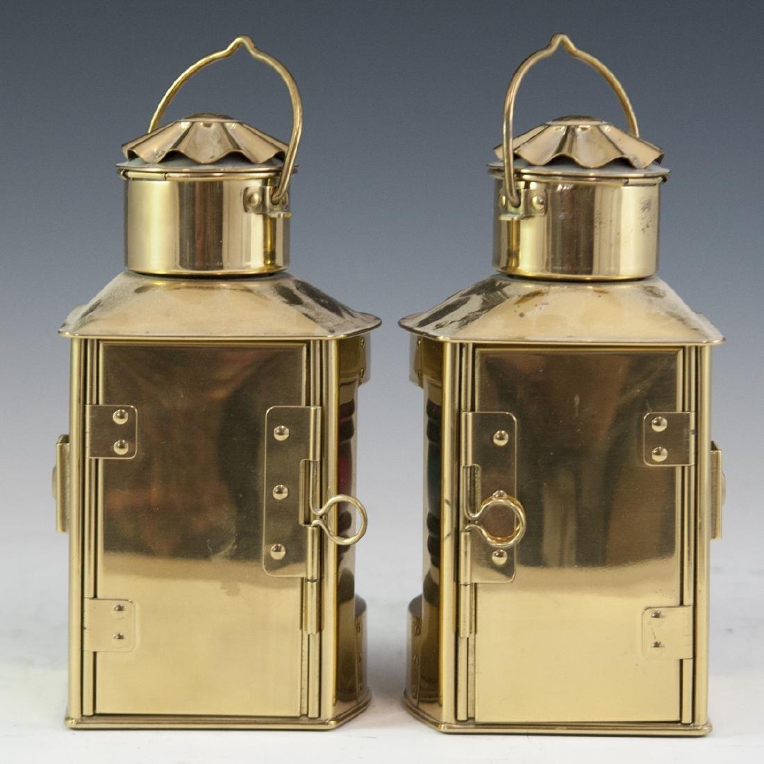 Den Haan Rotterdam Brass Marine Oil Lamps - 3