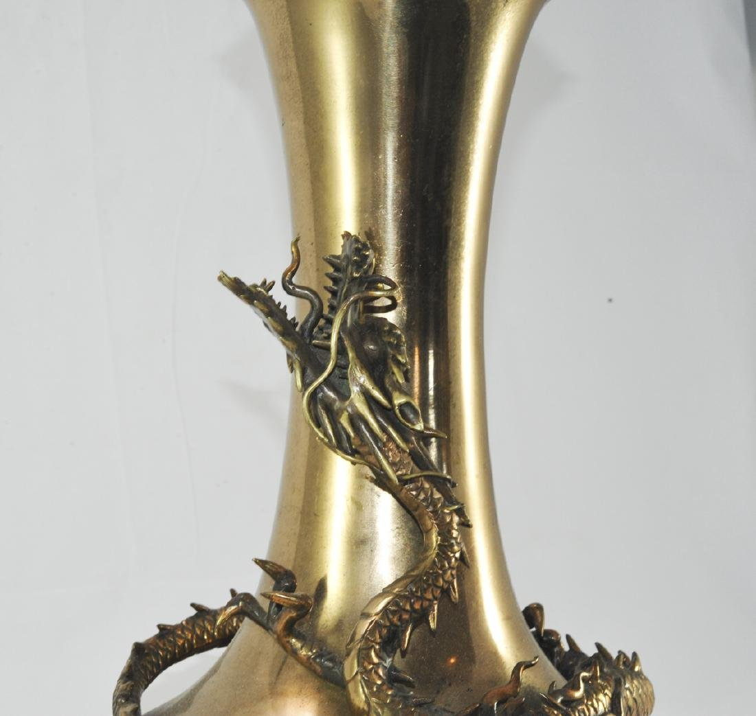 Antique Chinese Gilded Metal Lamp - 4
