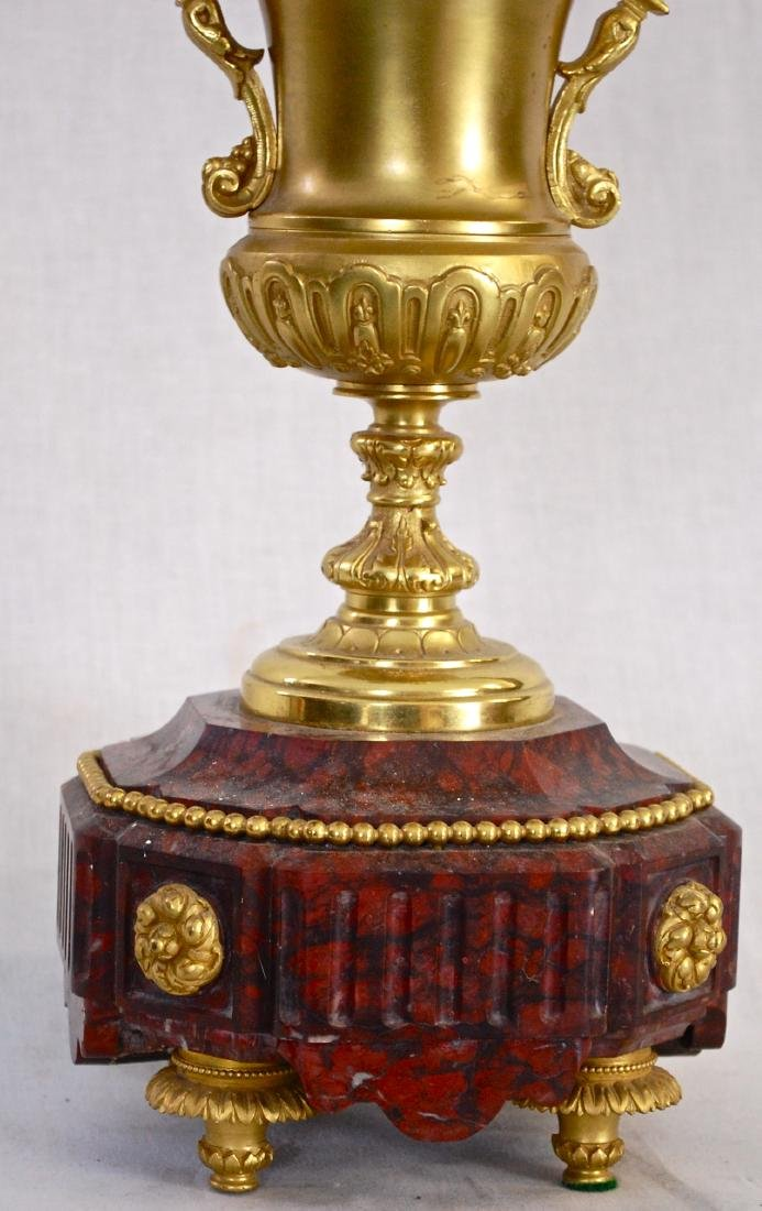 Antique Dore Bronze & Griotte Candelabras - 5