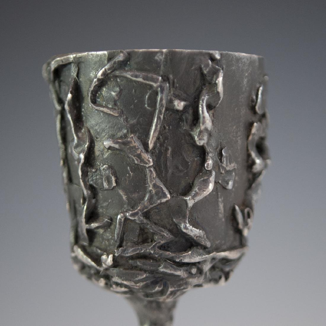 Signed Bronze Kiddush Cup - 6