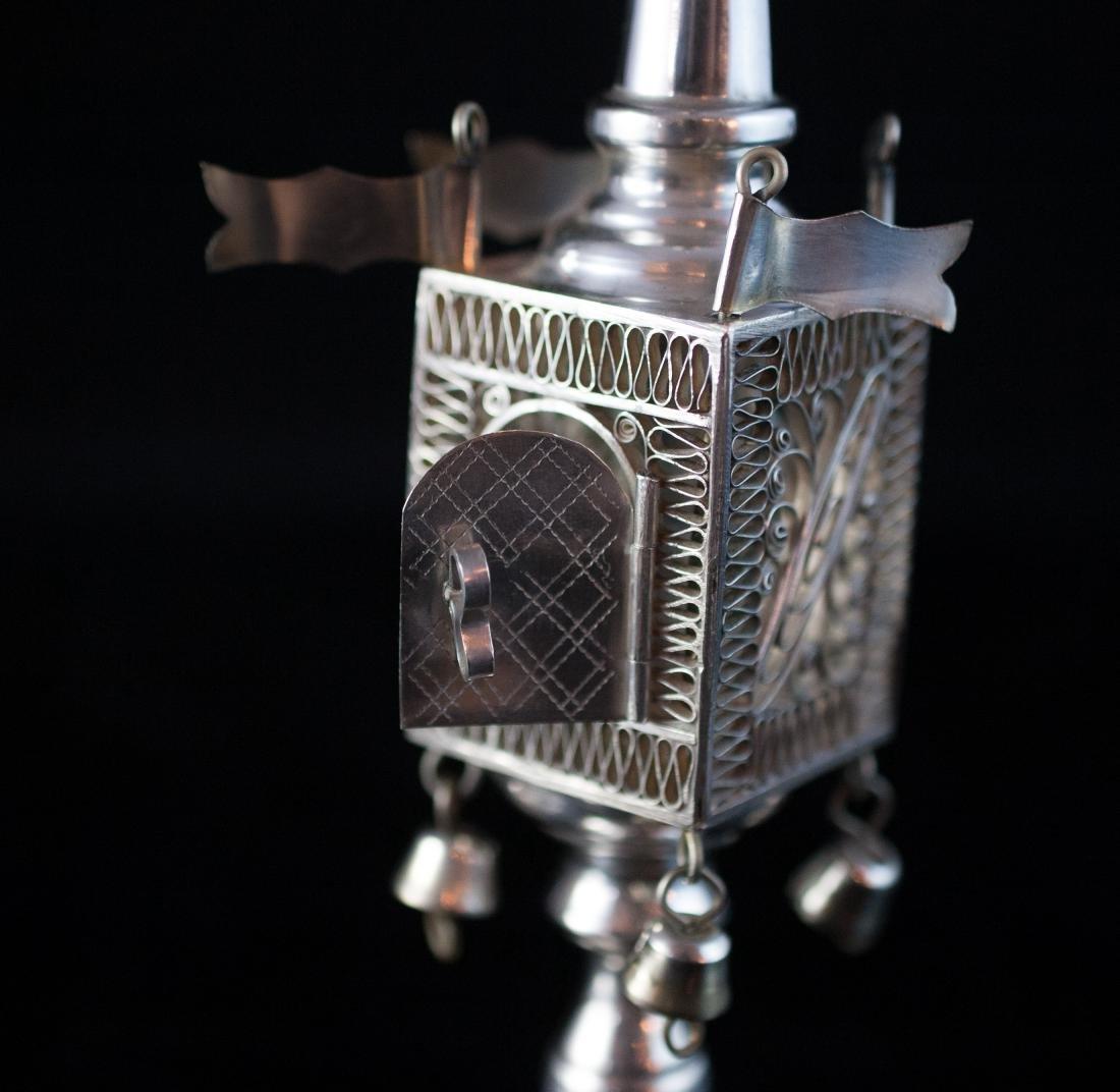Judaica Sterling Besamim Spice Tower - 3