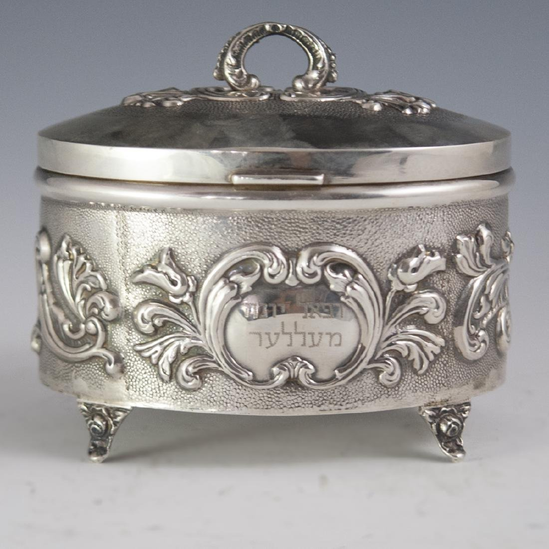 Israeli Sterling Repousse Box