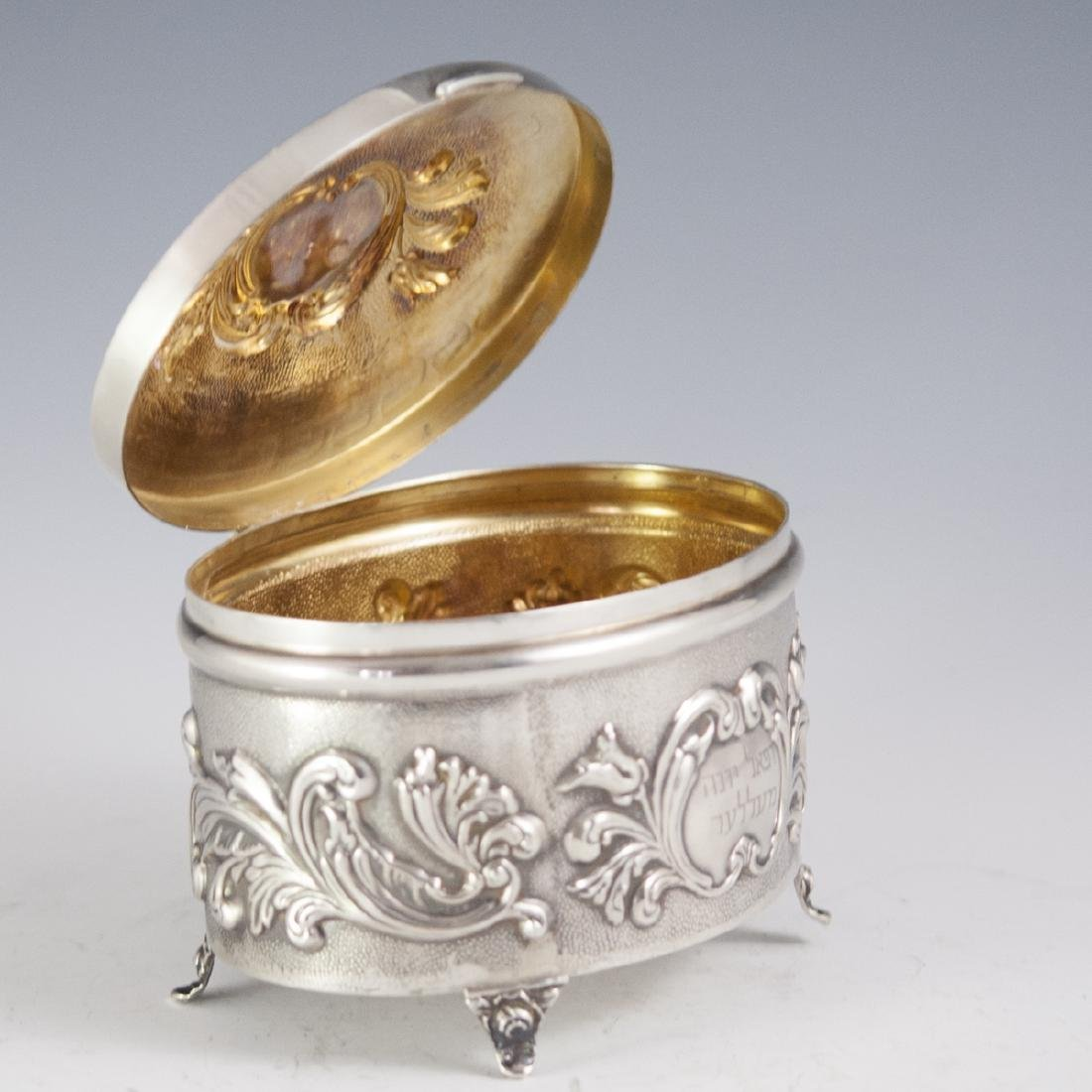 Israeli Sterling Repousse Box - 4
