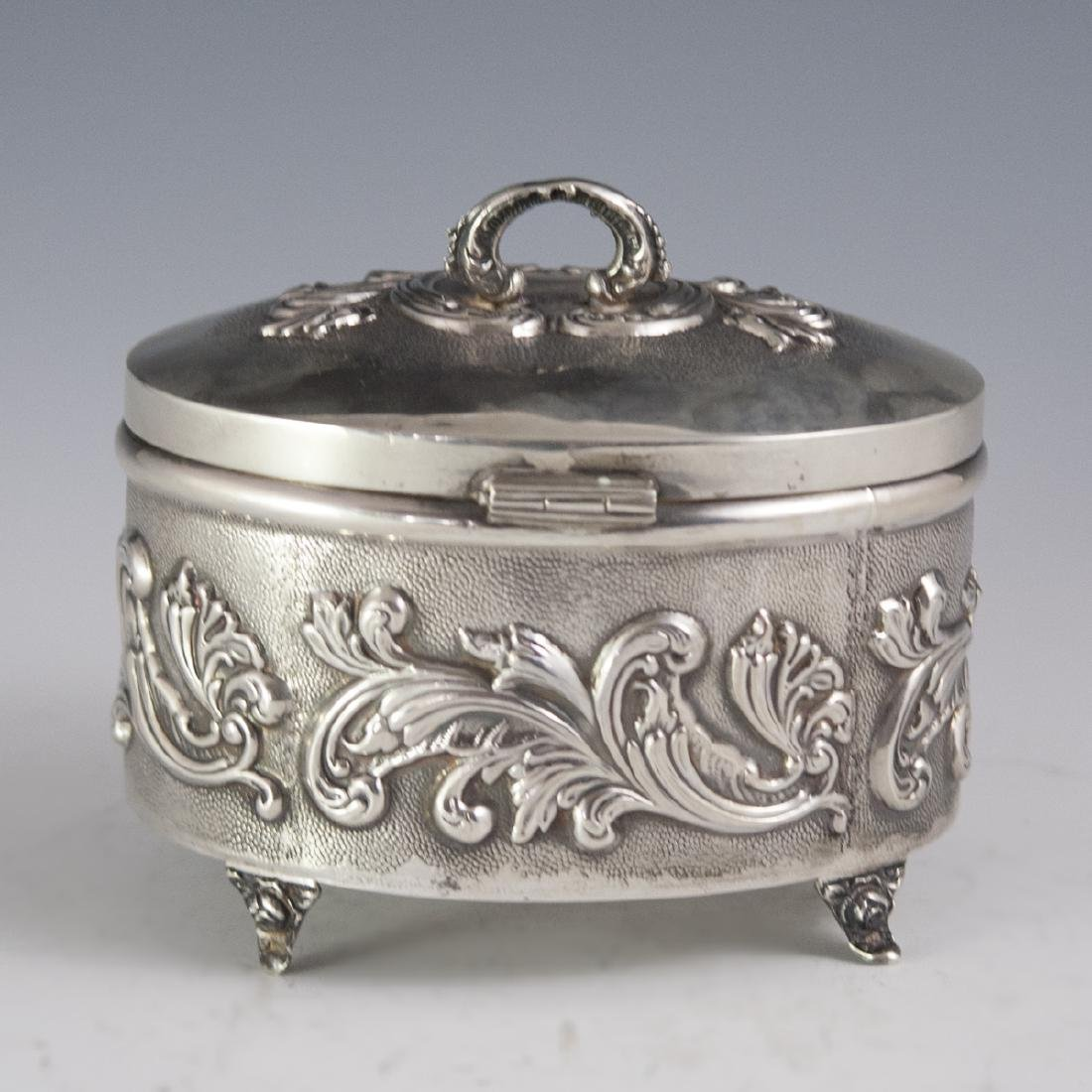 Israeli Sterling Repousse Box - 5