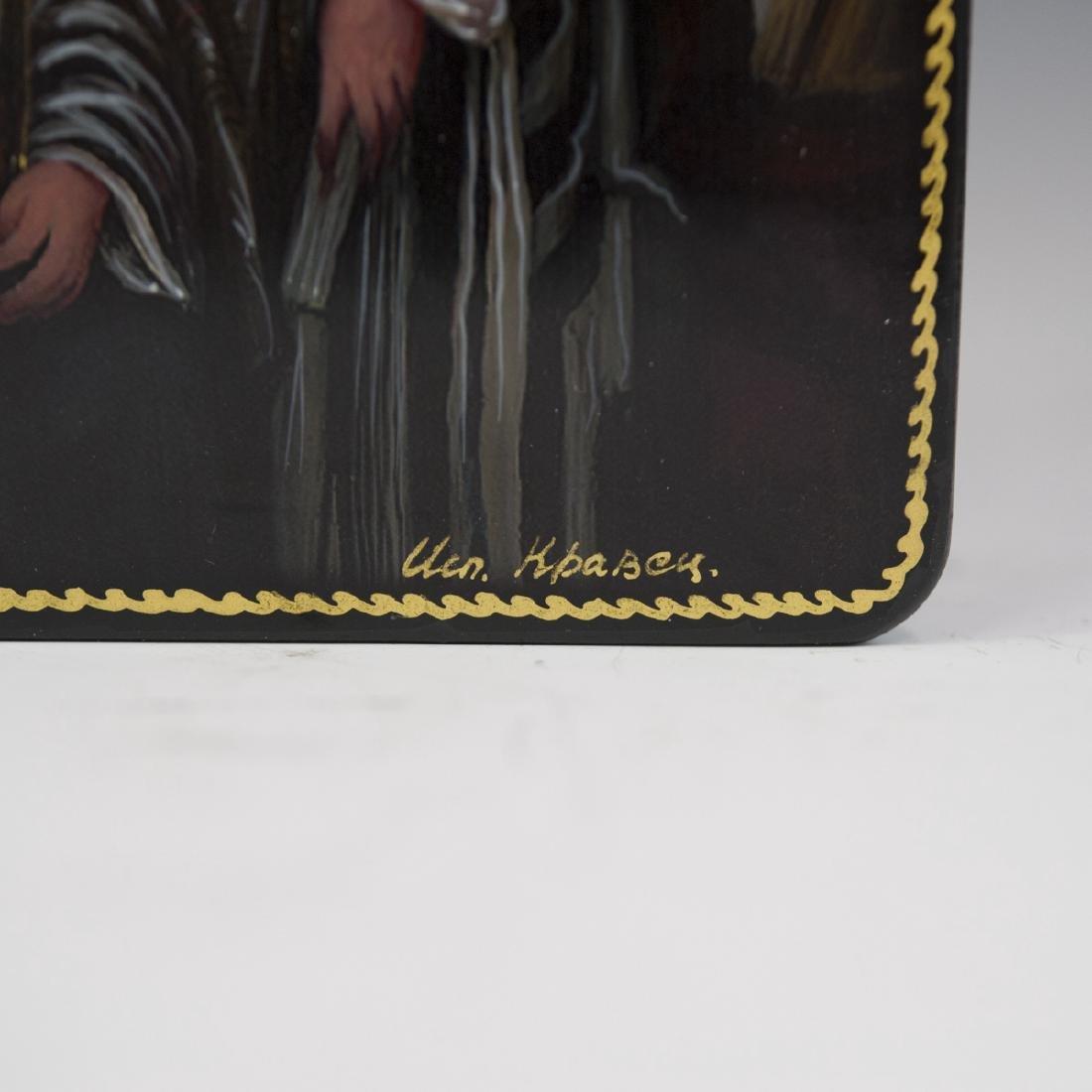 Russian Lacquered Papier Mache Judaic Boxes - 3