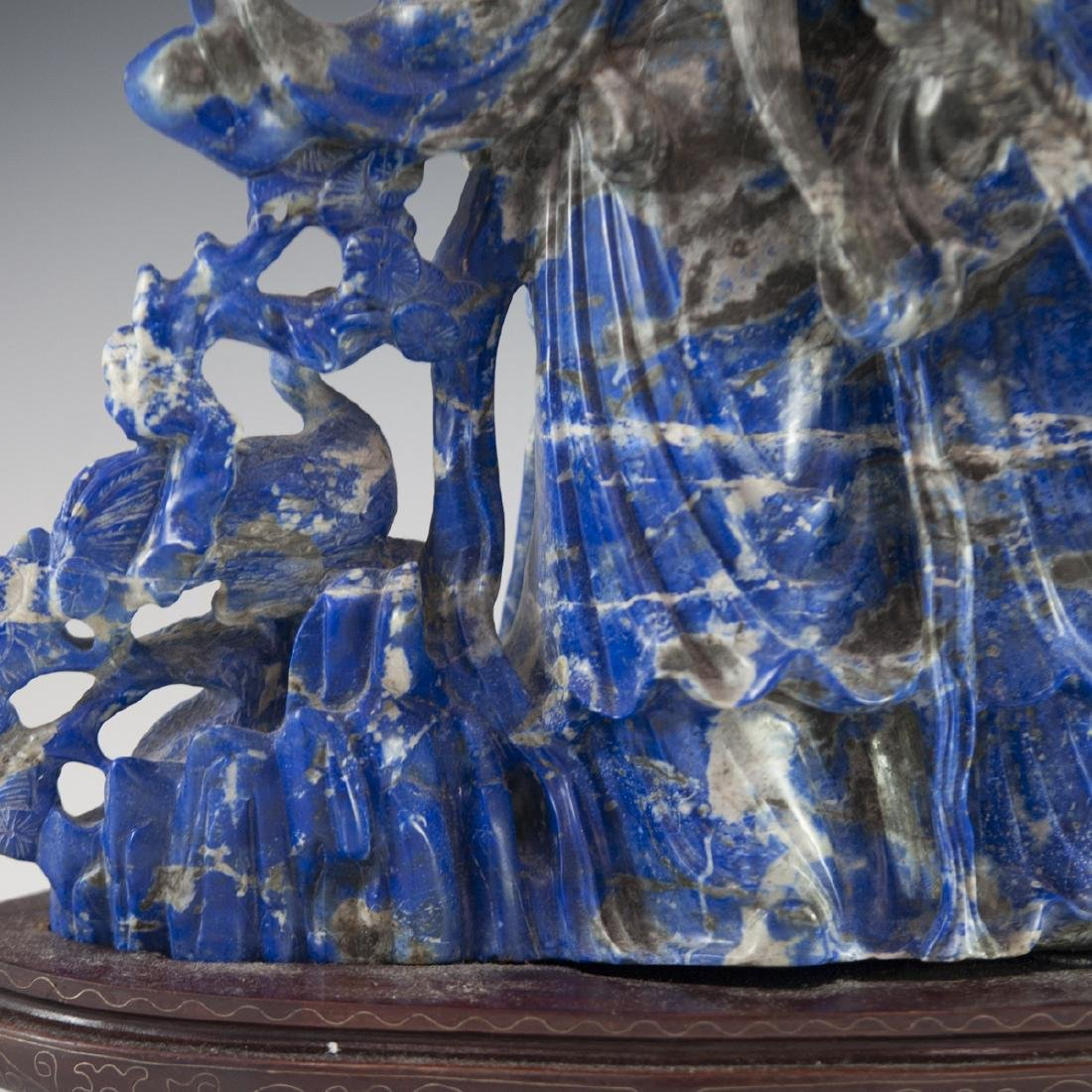 Large Carved Chinese Lapis Lazuli Sculpture - 7