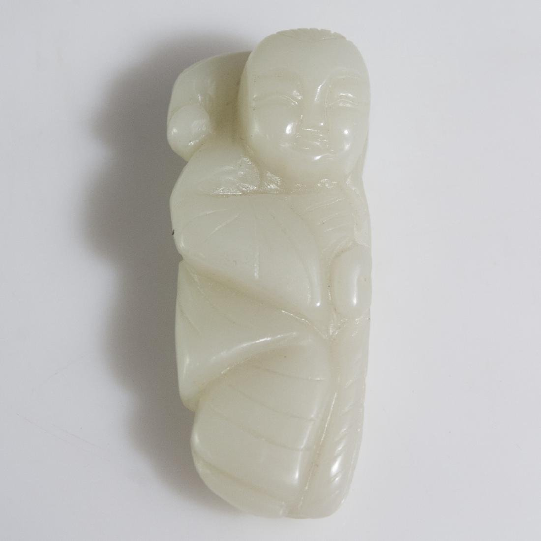 Antique Chinese Celadon Jade Carving