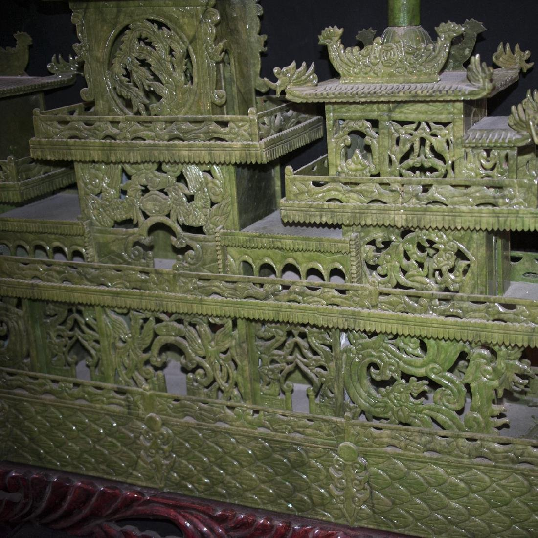 Palace Size Faux Spinach Jade Boat - 3