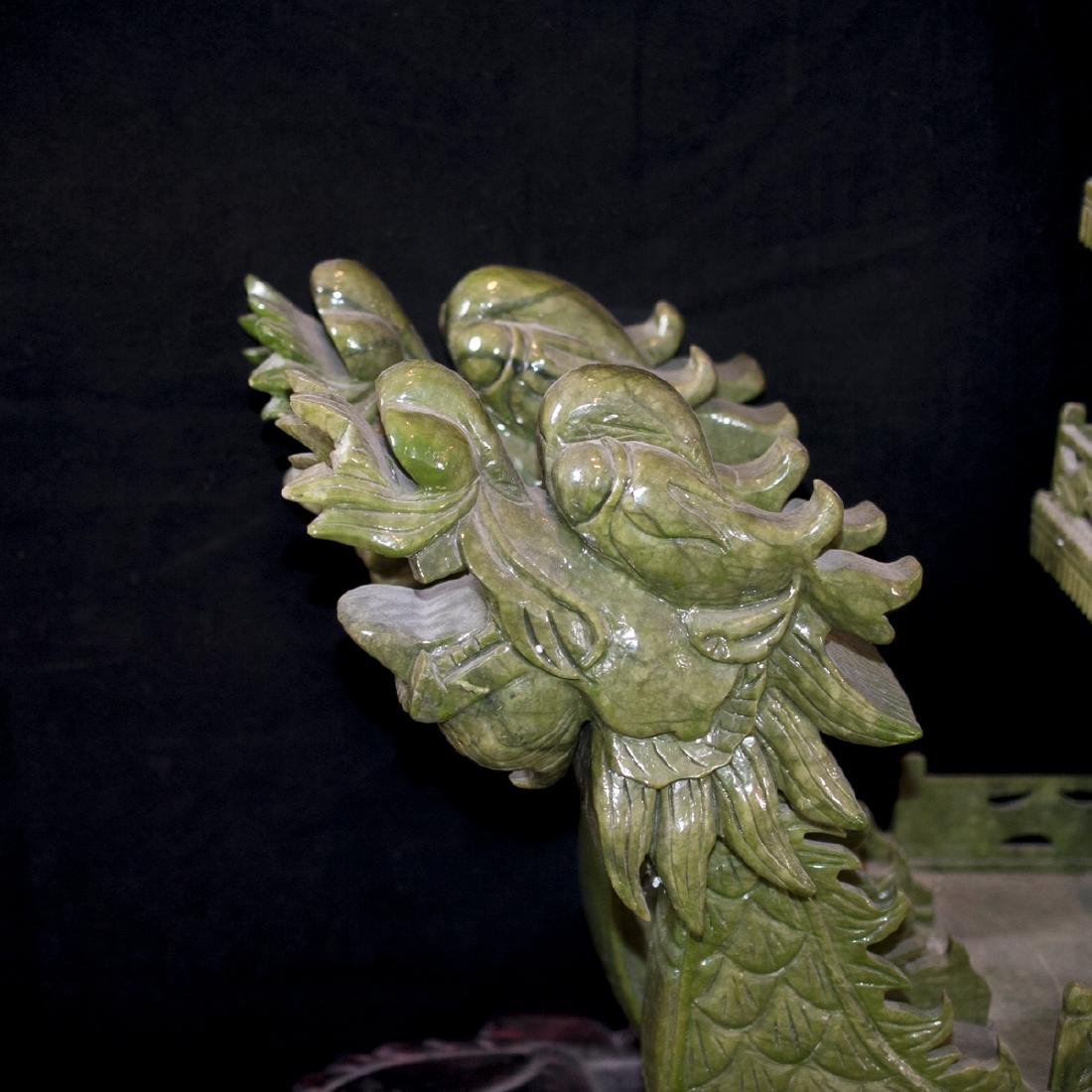 Palace Size Faux Spinach Jade Boat - 5