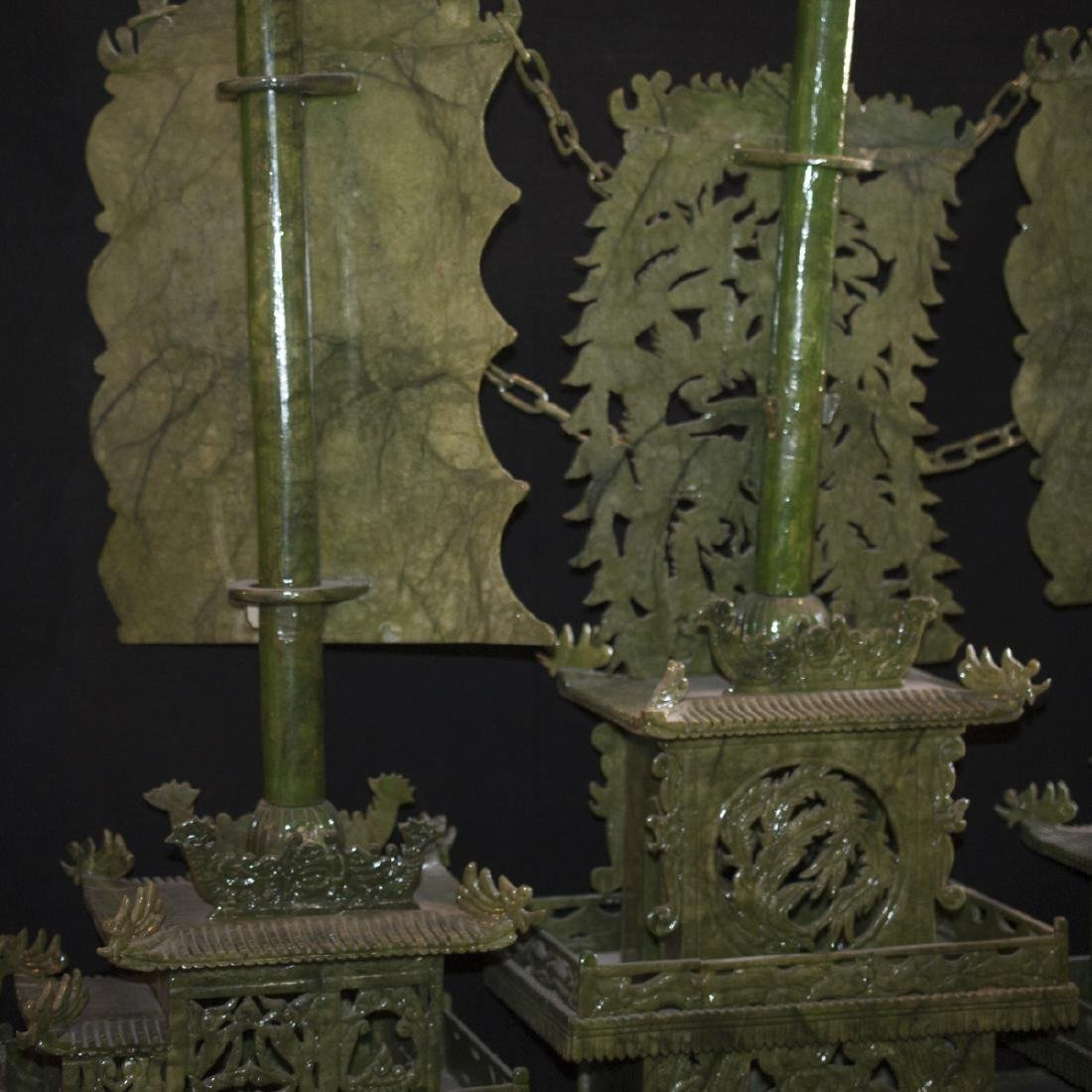 Palace Size Faux Spinach Jade Boat - 6